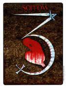 Three of Swords Tarot card in Gill deck