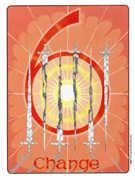 Six of Swords Tarot card in Gill deck