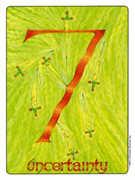 Seven of Swords Tarot card in Gill deck