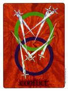 Eight of Swords Tarot card in Gill deck