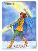 Knight of Swords Tarot card in Gill deck
