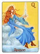 Queen of Swords Tarot card in Gill deck