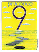 Nine of Coins Tarot card in Gill deck