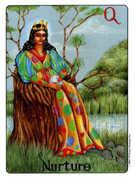 Queen of Coins Tarot card in Gill deck