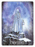 The Hermit Tarot card in Gill deck
