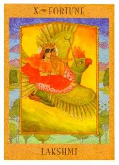 The Wheel of Fortune Tarot Card - Goddess Tarot Deck
