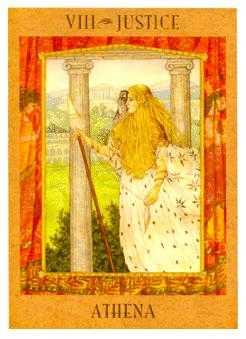 Justice Tarot Card - Goddess Tarot Deck