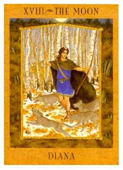 The Moon Tarot Card - Goddess Tarot Deck