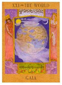 The World Tarot Card - Goddess Tarot Deck