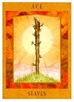 Ace of Staves Tarot Card - Goddess Tarot Deck