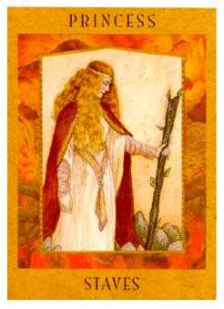 Princess of Staves Tarot Card - Goddess Tarot Deck