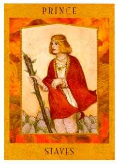 Knight of Batons Tarot Card - Goddess Tarot Deck