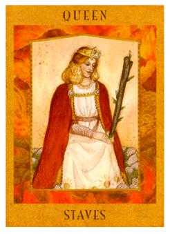 Queen of Batons Tarot Card - Goddess Tarot Deck