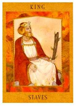 King of Staves Tarot Card - Goddess Tarot Deck