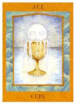 Ace of Cups Tarot Card - Goddess Tarot Deck