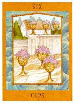 Six of Hearts Tarot Card - Goddess Tarot Deck