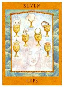 Seven of Hearts Tarot Card - Goddess Tarot Deck