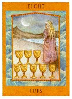 Eight of Ghosts Tarot Card - Goddess Tarot Deck