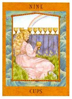 Nine of Bowls Tarot Card - Goddess Tarot Deck