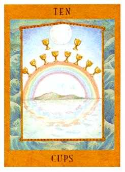 Ten of Hearts Tarot Card - Goddess Tarot Deck