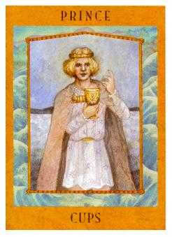 Prince of Hearts Tarot Card - Goddess Tarot Deck