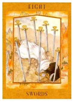 Eight of Spades Tarot Card - Goddess Tarot Deck