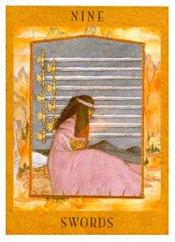 Nine of Swords Tarot Card - Goddess Tarot Deck