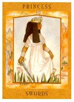 Slave of Swords Tarot Card - Goddess Tarot Deck