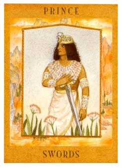 Knight of Spades Tarot Card - Goddess Tarot Deck