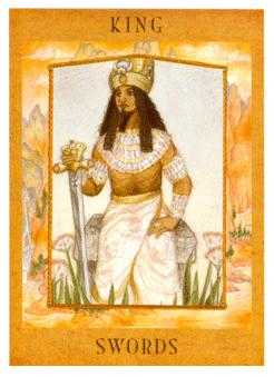 Roi of Swords Tarot Card - Goddess Tarot Deck