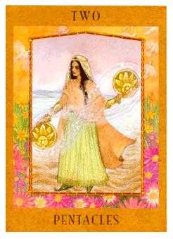 Two of Pentacles Tarot Card - Goddess Tarot Deck