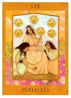 Six of Coins Tarot Card - Goddess Tarot Deck