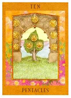 Ten of Coins Tarot Card - Goddess Tarot Deck