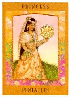 Daughter of Coins Tarot Card - Goddess Tarot Deck