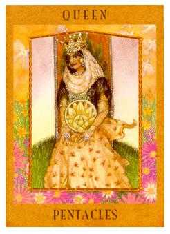 Queen of Coins Tarot Card - Goddess Tarot Deck