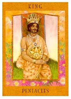 King of Coins Tarot Card - Goddess Tarot Deck