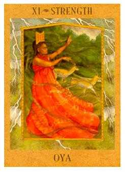 Strength Tarot Card - Goddess Tarot Deck