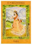 The Fool Tarot card in Goddess Tarot deck