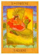 Wheel of Fortune Tarot card in Goddess Tarot deck