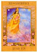 The Hanged Man Tarot card in Goddess deck