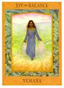Temperance Tarot card in Goddess Tarot deck