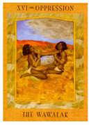 The Tower Tarot card in Goddess Tarot deck
