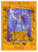 The Star Tarot card in Goddess deck