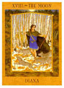 The Moon Tarot card in Goddess Tarot deck