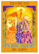 The Sun Tarot card in Goddess deck