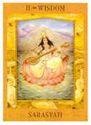 The High Priestess Tarot card in Goddess Tarot deck
