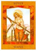 Seven of Staves Tarot card in Goddess deck