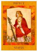 Prince of Staves Tarot card in Goddess Tarot deck