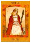 Queen of Staves Tarot card in Goddess Tarot deck