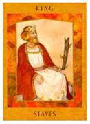 King of Staves Tarot card in Goddess Tarot deck